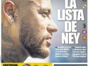 世体封面:内马尔很难转会巴萨,他被推荐给多支球队