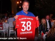 大咖会,鲁梅尼格率拜仁代表团同施瓦辛格、史泰龙共进晚餐