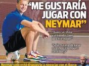 德容:希望和内马尔一起踢球;想在巴萨赢得欧冠