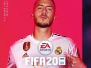 阿扎尔登上FIFA20封面,手指队徽霸气十足