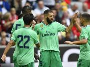 皇马5-3费内巴切夺奥迪杯季军,本泽马戴帽,马里亚诺建功