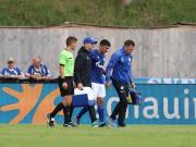 波热莱布在对阵比利亚雷亚尔的友谊赛中,脚踝受伤...