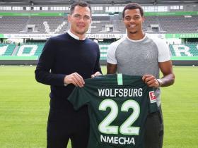 官方:沃尔夫斯堡租借签下曼城小将恩梅加