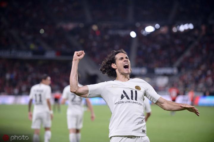 在法甲连续40场比赛中有进球,巴黎追平历史记录