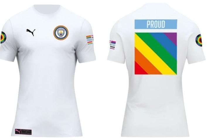 为庆祝曼彻斯特骄傲节,曼城发布限量版球衣