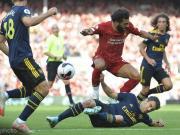 4次在英超主场对阵阿森纳,萨拉赫每场比赛都有进球