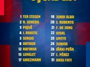 巴萨公布对阵贝蒂斯大名单:梅西继续缺席,格列兹曼入围