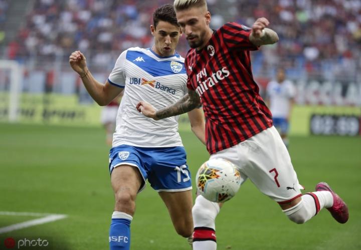 足球市场:对阵维罗纳,卡斯蒂列霍将继续首发