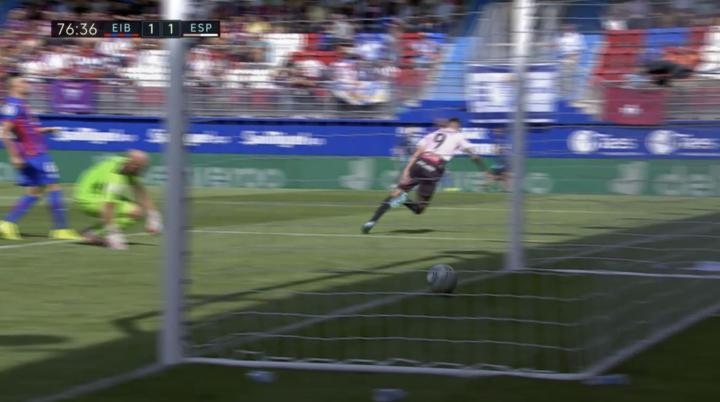 佩雷拉打进西班牙人在本赛季西甲联赛的第一球,西班...