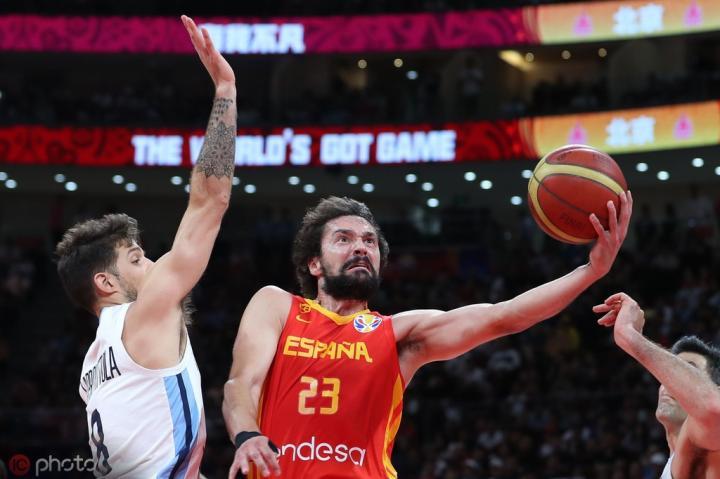 篮球世界杯:西班牙95-75胜阿根廷,时隔13年再夺冠