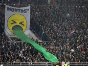 太有才了!圣保利球迷制作呕吐创意Tifo来抗议在周一进行比赛
