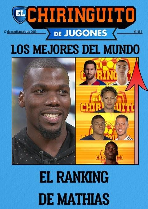 博格巴哥哥列现役最佳球员:梅罗最佳,我弟还差一些