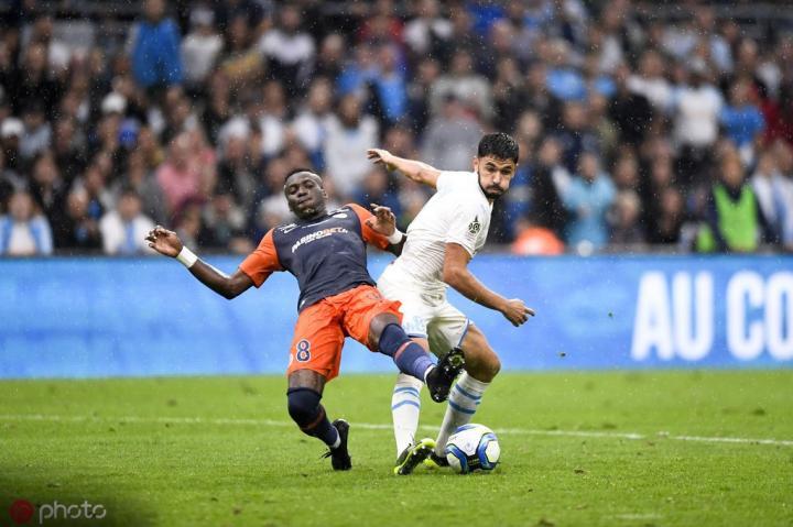 法甲综述:三人染红,马赛1-1蒙彼利埃;摩纳哥延续不胜纪录