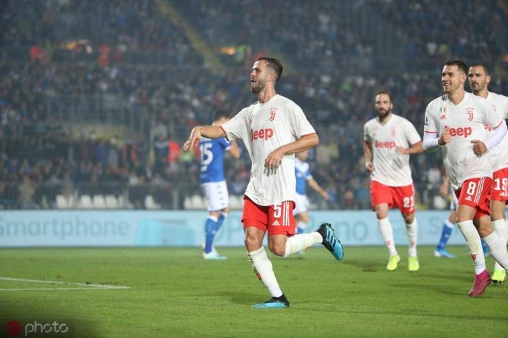 单场108次成功传球,皮亚尼奇创造意甲本赛季中场球员新高