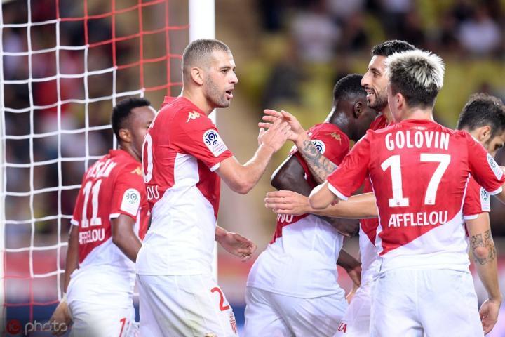 摩纳哥3-1尼斯拿到赛季首胜,暂时脱离降级区