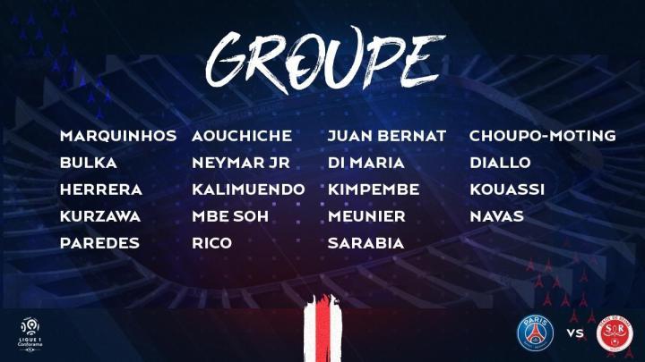 巴黎对战兰斯大名单:内马尔领衔,姆巴佩、伊卡尔迪伤缺