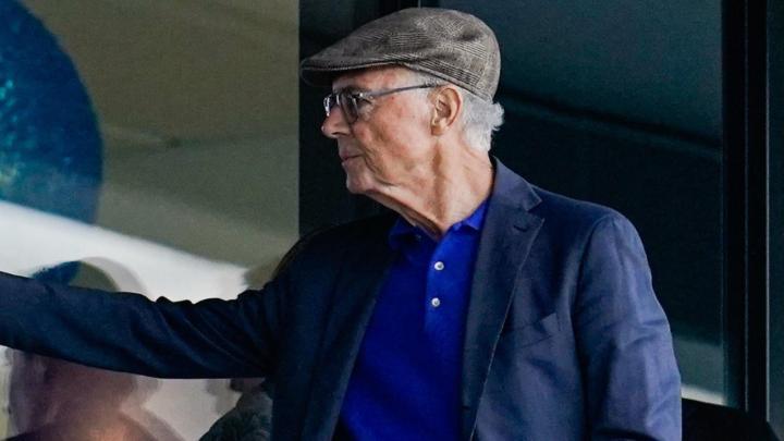 贝肯鲍尔身体状况好转,现场观看霍芬海姆与门兴比赛
