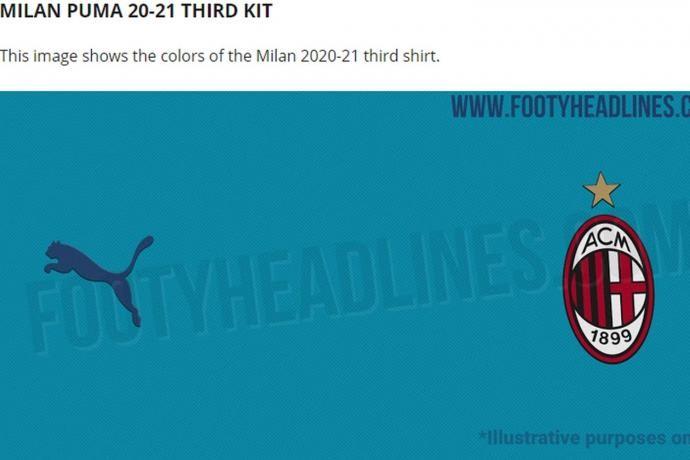 谍照流出,AC米兰下赛季的第三球衣可能是蓝色