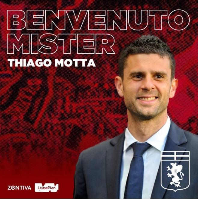 官方:蒂亚戈-莫塔成为热那亚主教练
