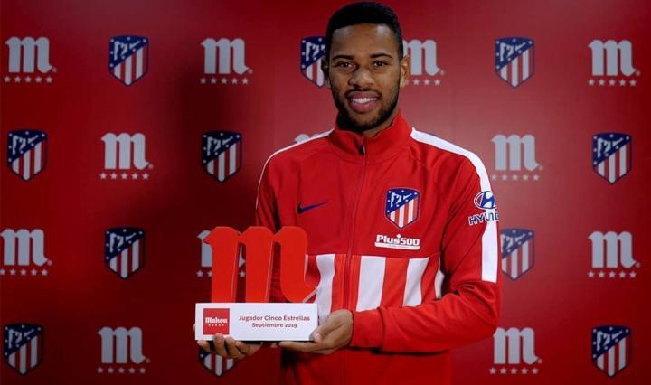 马德里竞技队内9月最佳球员:雷南-洛迪