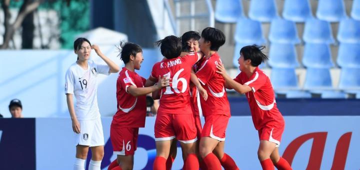 U19女足亚洲杯半决赛:朝鲜3-1击败韩国,日本7-0澳大利亚
