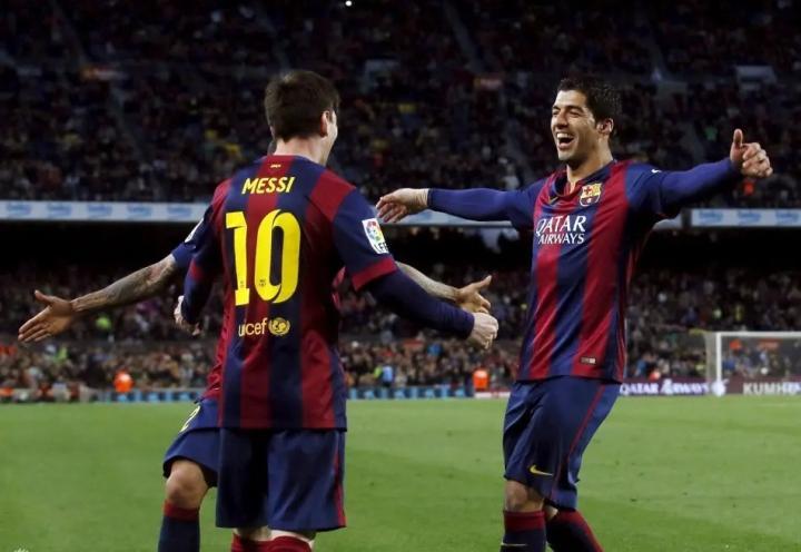 梅西和苏亚雷斯共为巴萨攻入800球,远超其他球队的锋线搭档