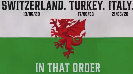 """威尔士官推玩""""贝尔体"""":瑞士、土耳其、意大利"""