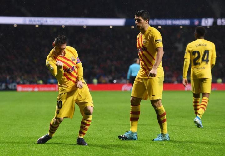 梅西在西甲第25次攻破马竞球门,仅次于面对塞维利亚的29球