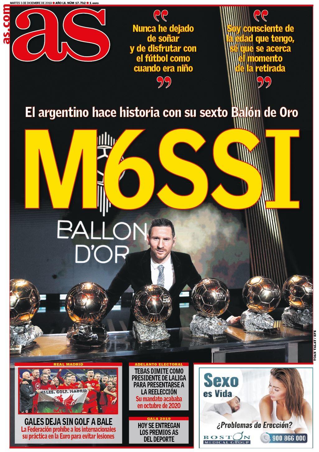 每日体育报怒吹梅西:足球只有一