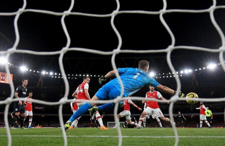 英超15轮阿森纳被射门253次,而上赛季曼城一共只被射门238次