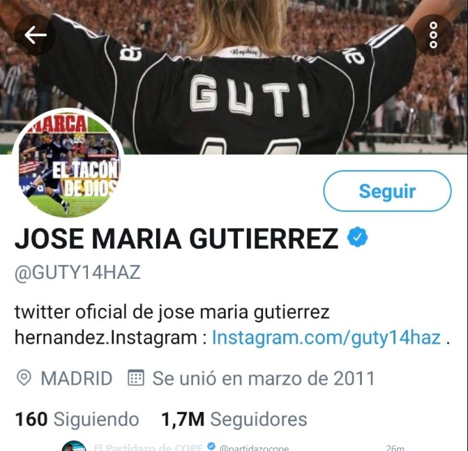 真改名了,古蒂将推特名字改为何塞-马里亚-古铁雷斯