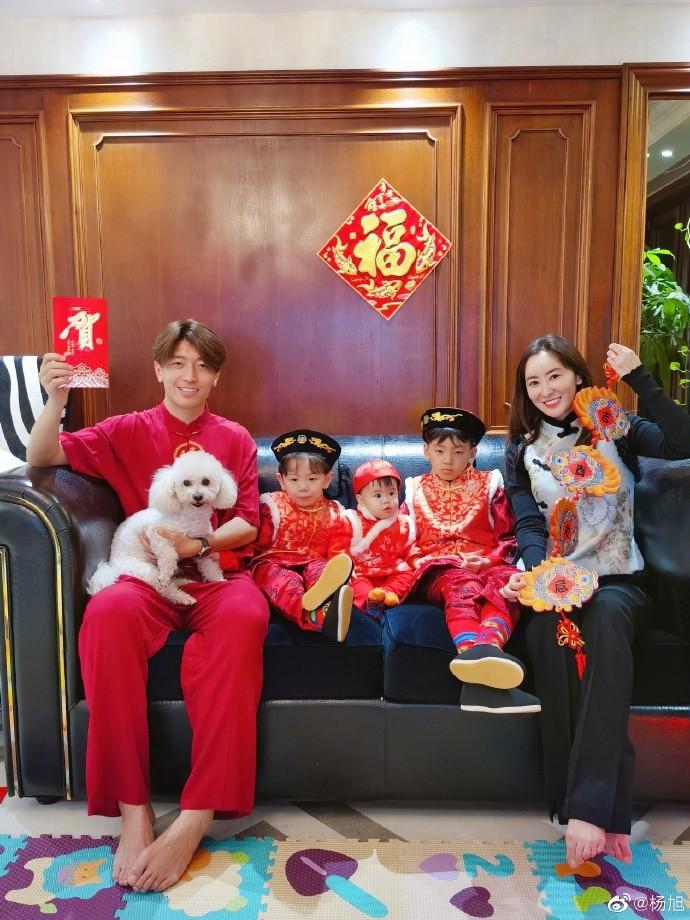 杨旭携全家拜年:祝大家鼠年大吉,家庭和睦