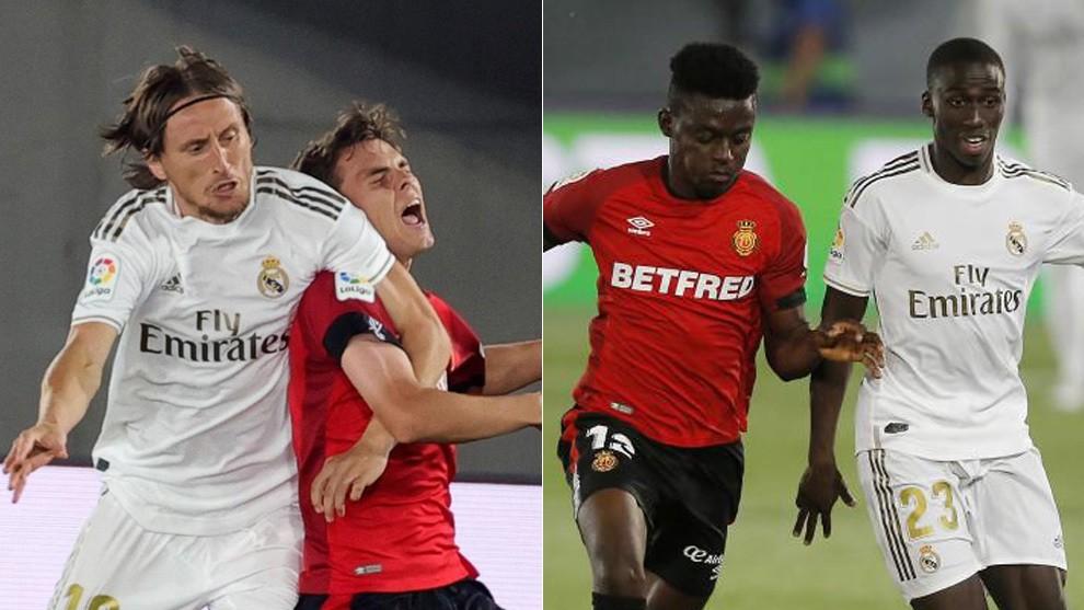 西甲第31轮,皇家马德里主场2-0击败马略卡的比赛中