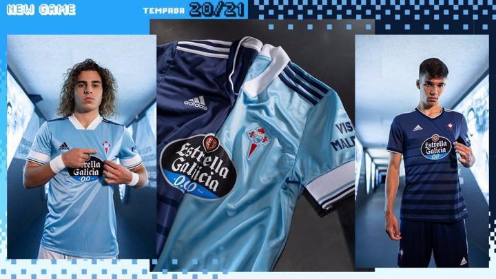 阿迪达斯发布维戈塞尔塔2020/21赛季主客场球衣