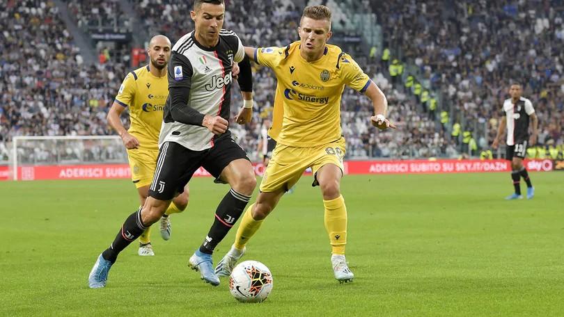 尤文最近14次面临维罗纳悉数获得进球,但上一次输球了