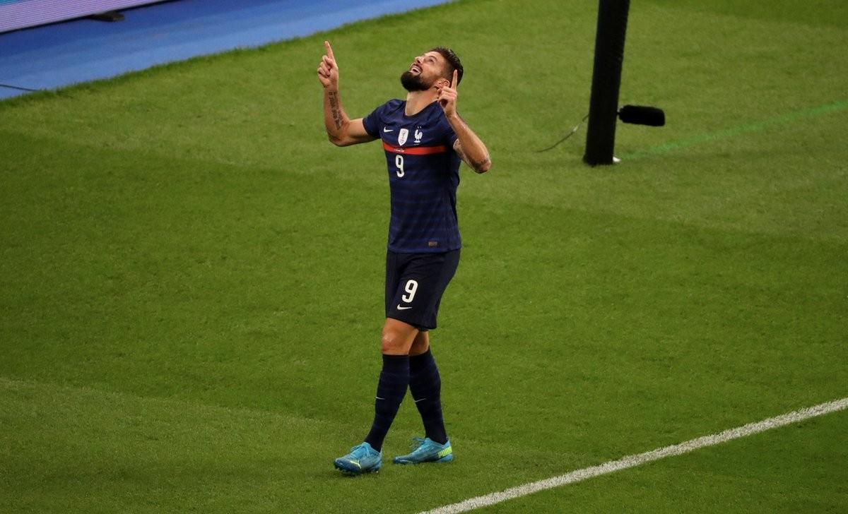 吉鲁曩昔6年第5次成为法国队内年度第一射手