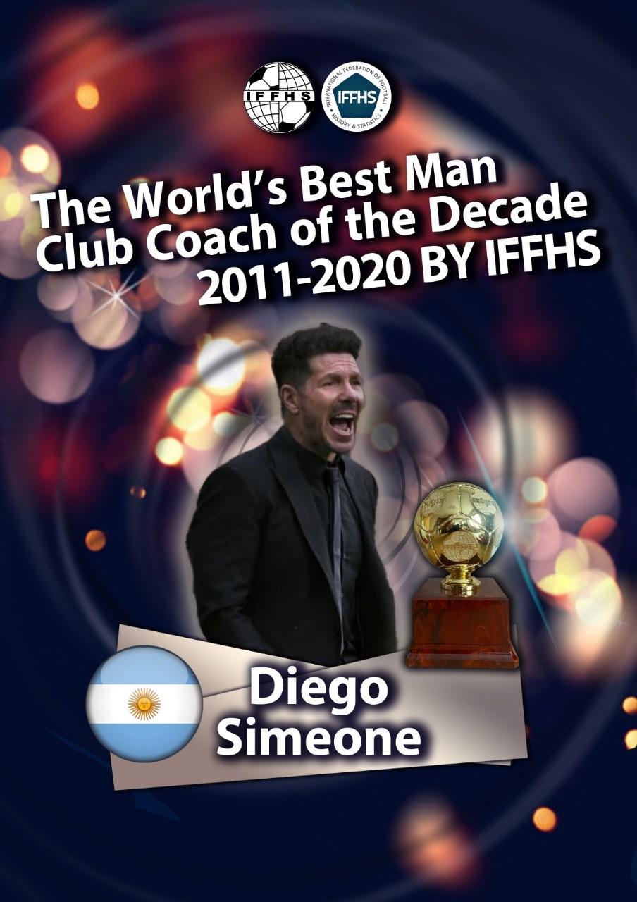 西蒙尼获IFFHS曩昔10年全球男足沙龙最佳教练